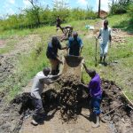 The Water Project: Lukala C Community, Livaha Spring -  Pouring The Foundation