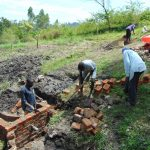 The Water Project: Lukala C Community, Livaha Spring -  Wing Wall Construction