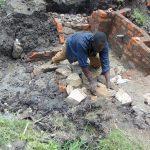The Water Project: Lukala C Community, Livaha Spring -  Rub Wall Construction