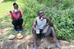 The Water Project:  Field Officer Christine And Artisan Enjoy A Tea Break