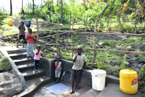 The Water Project:  Children Posing At The Spring