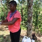 The Water Project: Lukala C Community, Livaha Spring -  Handwashing Demonstration