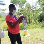 The Water Project: Lukala C Community, Livaha Spring -  Mask Making