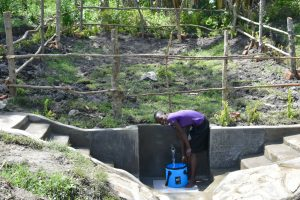 The Water Project:  Priscilla At The Completed Spring