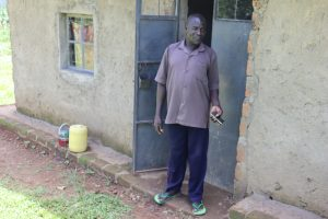 The Water Project:  Albert Mutsotsi Outside His House