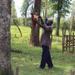 The Water Project: Mukoko Community, Zebedayo Mutsotsi Spring -  Albert Airing His Clothes