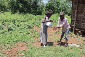 The Water Project:  Children Washing Hands