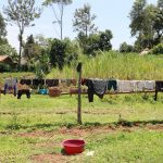 The Water Project: Mukoko Community, Zebedayo Mutsotsi Spring -  Fence As A Clothesline