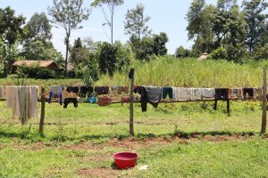 The Water Project:  Fence As A Clothesline