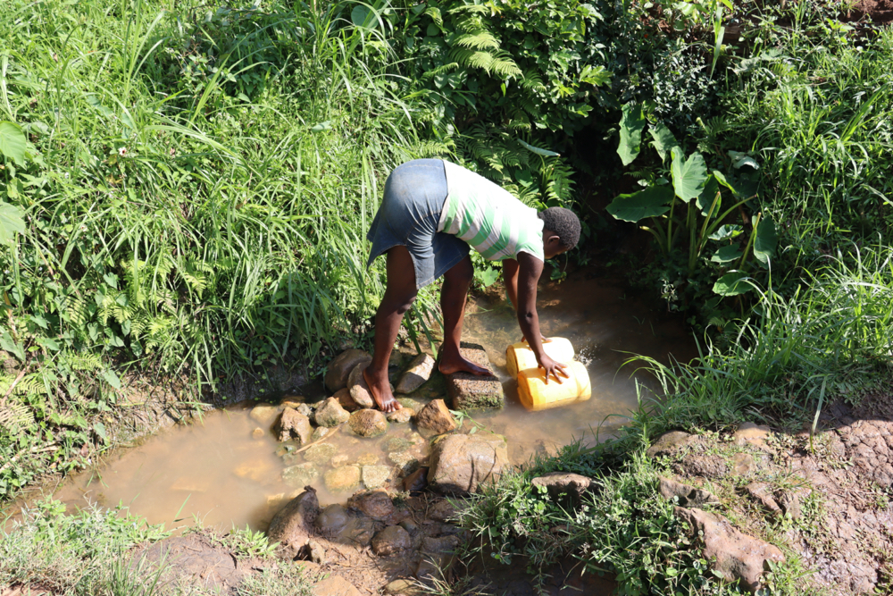 The Water Project : kenya21071-collecting-water-5