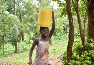 The Water Project:  Water From Shemema Spring En Route To Use