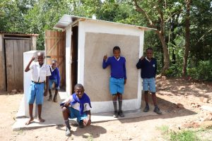 The Water Project:  Boys Posing At Their Latrines