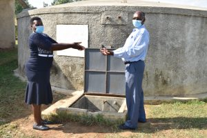 The Water Project:  Team Leader Emmah Hands Over The Project To Deputy Principal