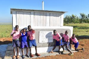 The Water Project:  Boys Pose At Their Newly Constructed Vip Latrines