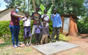 The Water Project:  Posing With A Completed Sanitation Platform
