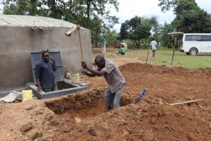 The Water Project:  Digging Tank Soak Pit