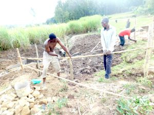 The Water Project:  Putting Up The Fence