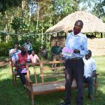 The Water Project: Emusaka Community, Muluinga Spring -  Community Member Makes A Statement