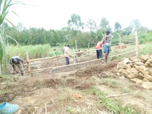 The Water Project:  Fencing In The Catchment Area