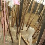 The Water Project: Jamulongoji Primary School -  Dome Propping Pole Supports