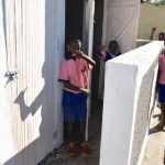 The Water Project: Eshimuli Primary School -  Boys Give Thumbs Up For Their New Latrines