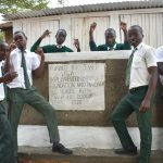 The Water Project: Makunga Secondary School -  Boys Posing At Their New Latrines