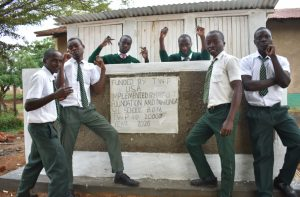 The Water Project:  Boys Posing At Their New Latrines