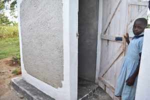 The Water Project:  A Girl Posing At The Latrines