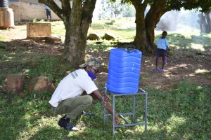 The Water Project:  Trainer David Show Correct Steps Of Handwashing