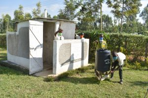 The Water Project:  Boys Proudly Posing At Their New Latrines