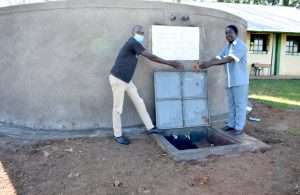 The Water Project:  Handing Over The Tank To Eshimuli Primary School