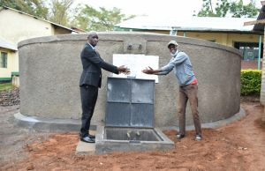 The Water Project:  Handing Over The Tank To The School Principal