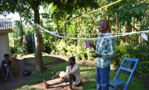 The Water Project:  A Community Member Contributes A Point