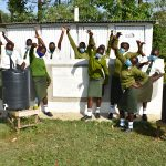 The Water Project: ACK St. Peter's Khabakaya Secondary School -  Girls Celebrate Their New Latrines