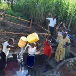 The Water Project: Emusaka Community, Muluinga Spring -  Celebrating At The Spring