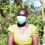 The Water Project: Mbande Community, Handa Spring -  Sarah With Her Mask On