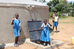 The Water Project:  Students Celebrating At The Tank