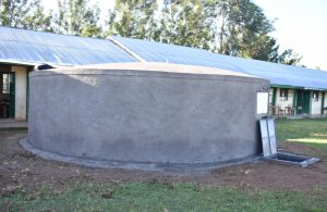 The Water Project:  A Side View Of The Rain Tank