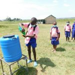 The Water Project: Eshimuli Primary School -  Students Line Up To Wash Hands