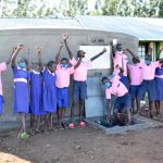 The Water Project: Eshimuli Primary School -  Students Celebrate The Rain Tank