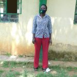 The Water Project: Eshimuli Primary School -  Teacher Eunice Atumba Masked Up