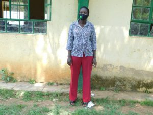 The Water Project:  Teacher Eunice Atumba Masked Up