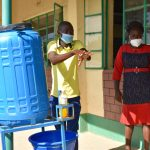 The Water Project: Makunga Secondary School -  Trainer Protus Shows Handwashing