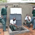 The Water Project: Makunga Secondary School -  Boys At The Rain Tank
