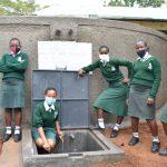 The Water Project: Makunga Secondary School -  Girls Celebrate The Rain Tank