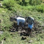 The Water Project: Bukalama Community, Wanzetse Spring -  Excavation Begins To Find The Springs Eye