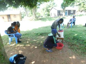 The Water Project:  Terry Takes Part In Handwashing