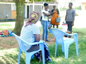 The Water Project:  Trainer Elvine Demonstrates Handwashing