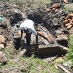 The Water Project: Bukalama Community, Wanzetse Spring -  Bricklaying