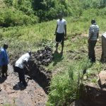 The Water Project: Bukalama Community, Wanzetse Spring -  Excavating Foundation Area